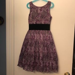 Pippa and Julie Purple animal print girls dress